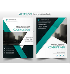 green abstract annual report brochure vector image vector image