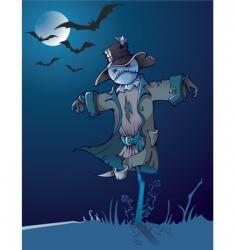 night scarecrow vector image vector image