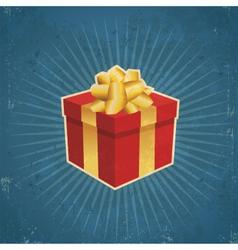 Retro Gift Box vector image