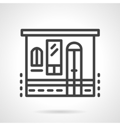 Storefronts simple line icon Grocery vector image