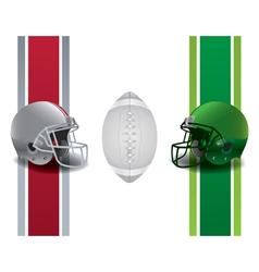 American Football National Championship Matchup vector image