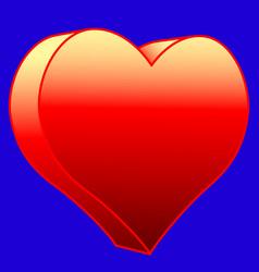 hot heart icon vector image vector image