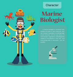 i love my job scientist collection vector image vector image