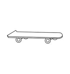 skateboard board sport element vector image