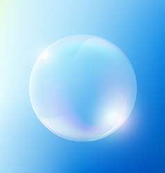 Soap bubble Stock vector image vector image