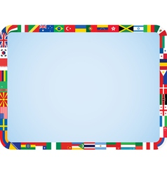 world flags frame vector image