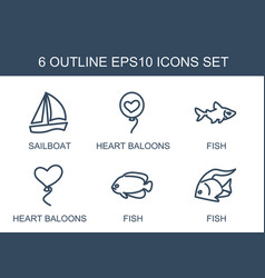 6 eps10 icons vector image