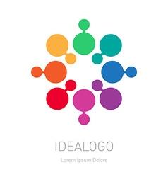 Abstract Logotype multicolor logo design element vector image