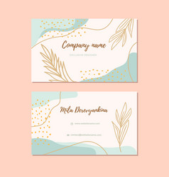 abstract modern business card elegant business vector image