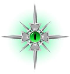 Amulet dragon eye vector