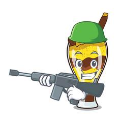 army mangonada fruit character cartoon vector image