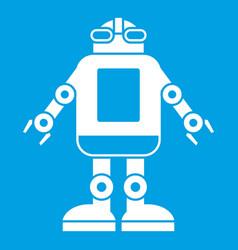 automation machine robot icon white vector image