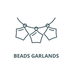 beads garlands line icon beads garlands vector image