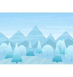 beautiful christmas winter flat landscape vector image