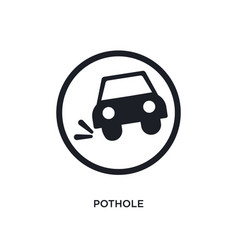 Black pothole isolated icon simple element from vector