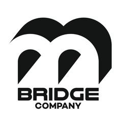 bridge letter b logo vector image