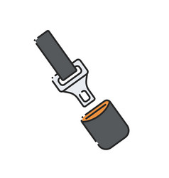 Car seatbelt icon vector