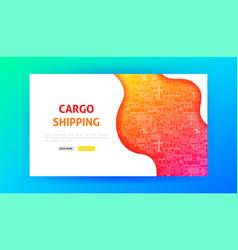 Cargo shipping landing page vector