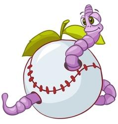 cartoon character worm vector image vector image