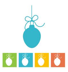 christmas ball new year icon vector image