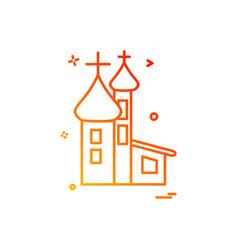 church christian holy cross icon design vector image