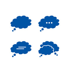 Cloudy bubble chat icon pack vector