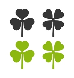 Clover Leaf Icons Set Irish Symbol vector image