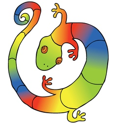 Colorful Gecko vector