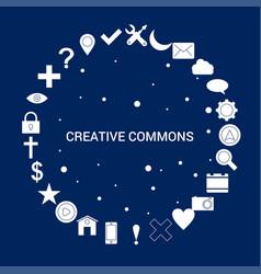 Creative creative commons icon background vector