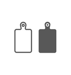 cutting board line and glyph icon kitchen vector image