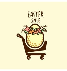 Easter sale design vector