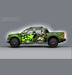 Editable template for wrap suv with evil gorilla vector