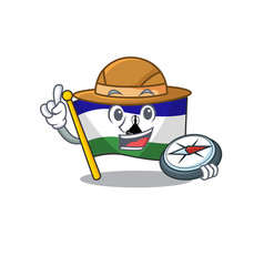 Explorer flag lesotho isolated in character vector