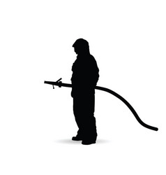Fireman silhouette vector