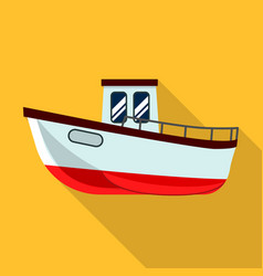 Fishing ship icon flat style vector