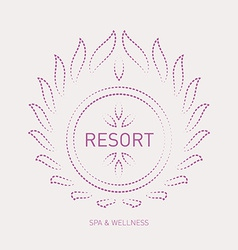 Floral logo template for wellness salon Spa resort vector image