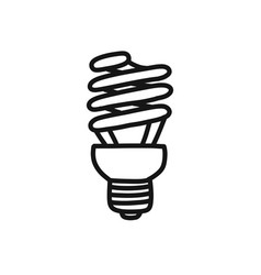 Fluorescent lamp doodle icon vector