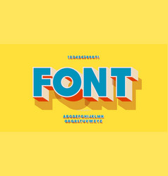 Font 3d bold colorful style vector