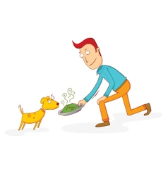 Food for a dog vector