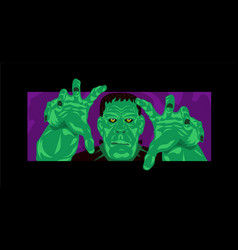 frankenstein halloween party vector image