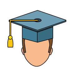 graduation man design vector image