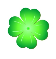 Green Clover Symbol vector image