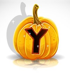 Halloween Pumpkin Y vector image