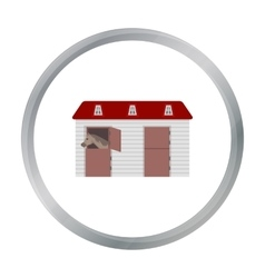 Horse stable icon in cartoon style isolated on vector