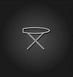 ironing board icon flat vector image