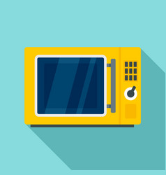 keypad microwave icon flat style vector image