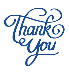 Lettering of thank you words vector