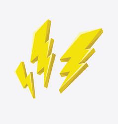 lightning bolt icon vector image