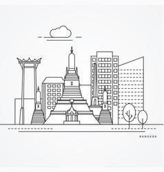 linear bangkok thailand vector image