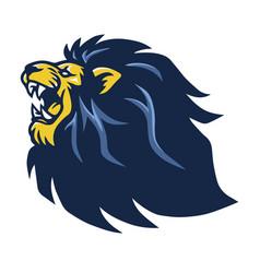 lion roaring beast mascot logo vector image